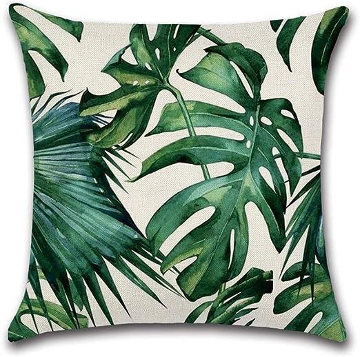 CCMOO Plantas Tropicales Hoja de Palma Hojas Verdes Fundas