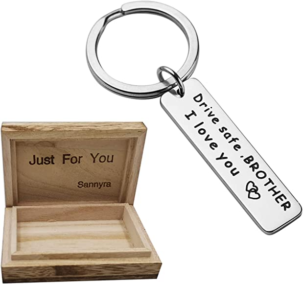 Drive Safe Keychain Brother I Love You Keychain Gift for Brother Family  Jewelry