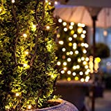 FOONEE Solar String Lights, Copper Fairy Lights with 8 Working Modes 72 Ft 200 LEDs Waterproof Solar Led Lights Decorative for Bedroom, Christmas, Parties,Centerpiece, Decoration Use(Warm White)