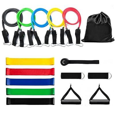 Bande de Résistance Fitness Set 16 – OTHA Kit Fitness Bande Tubes d'Exercice Musculation Latex - Équipement d'Exercices pour Musculation Pilates Squat Sport Crossfit Rééducation Physique et M