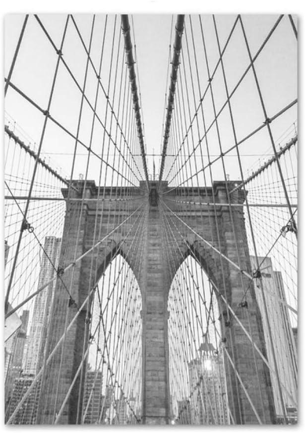 LiMengQi2 Cuadro sobre Lienzo para Pared con Imagen de Paisaje Famoso de Nueva York, Estatua de la Libertad, Negro, Blanco, nórdico, Cuadros Impresos para decoración del hogar(No Frame): Amazon.es: Hogar