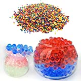 Halffle 12 Bags/Set Water Beads Flash Water Beads Sooper Beads Crystal Soil Water Bead Refill Balls Toys Home Decoration