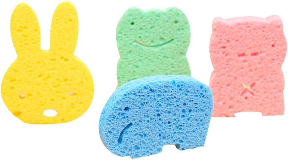 Newin Star ba/ño Esponja Animal Pattern para ni/ños ducha producto 4/piezas