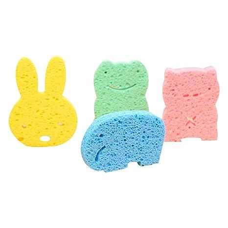 Esponja del baño del bebé, Baby baño espuma frotan esponja de ducha, suave algodón depurador baño cepillo frotando la toalla para niño infantil recién ...