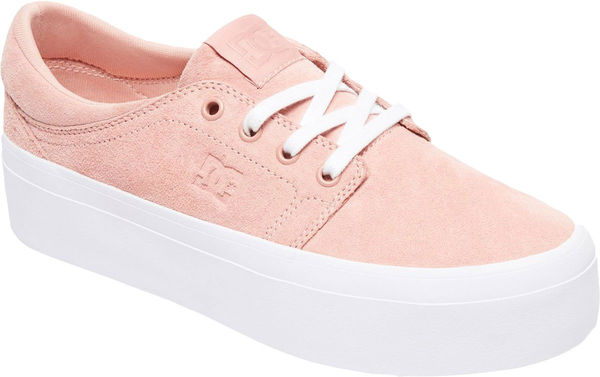 DC Women's Trase Platform LE Skate Shoe, Peach Parfait, 8.5 Medium US