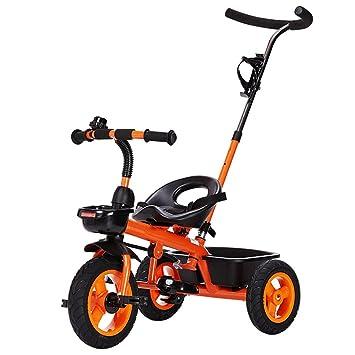 Carrito de bebé Triciclo Carrito de bebé Bicicleta de juguete infantil de coches Titanio Ruedas vacías ...