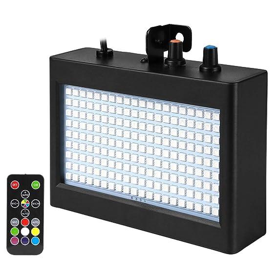 Eyourlife Stroboskop LED Strobe Blitz Licht Bühnenbeleuchtung für Disco KTV Bühne Bar Party Disco Hochzeit Geburtstage Stadiu
