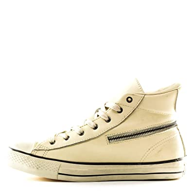 857bb2b94be2 Converse Chuck Taylor John Varvatos Unisex Turtledove Leather Zip Hi Top  145367C (Men s 6.5