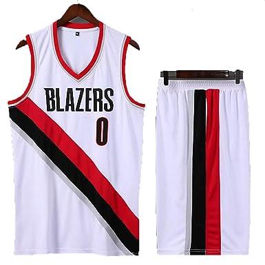 Camiseta De Baloncesto, Lillard, 0, Blazers, Top Y Pantalones ...