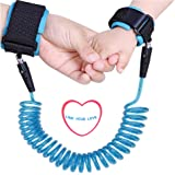 Baby Anti Lost Wrist Link Hand Belt Toddlers Safety Harness Leash Wristband for Kids and Parents (Blue)