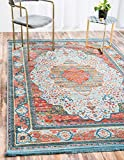 A2Z Rug Light Blue 8′ 4 x 10′ Feet St. Tropez Collection Traditional and Modern Area Rugs and Carpet For Sale