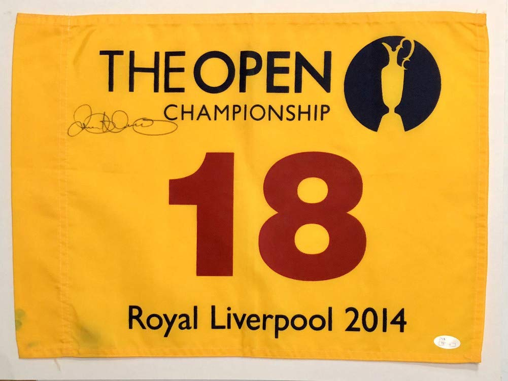 Rory Mcilroy Signed Autograph 2014 British Open Flag Sports Memorabilia JSA