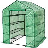TecTake Greenhouse with PVC cover and metal frame - different models - (143x143x195cm | No. 401860)