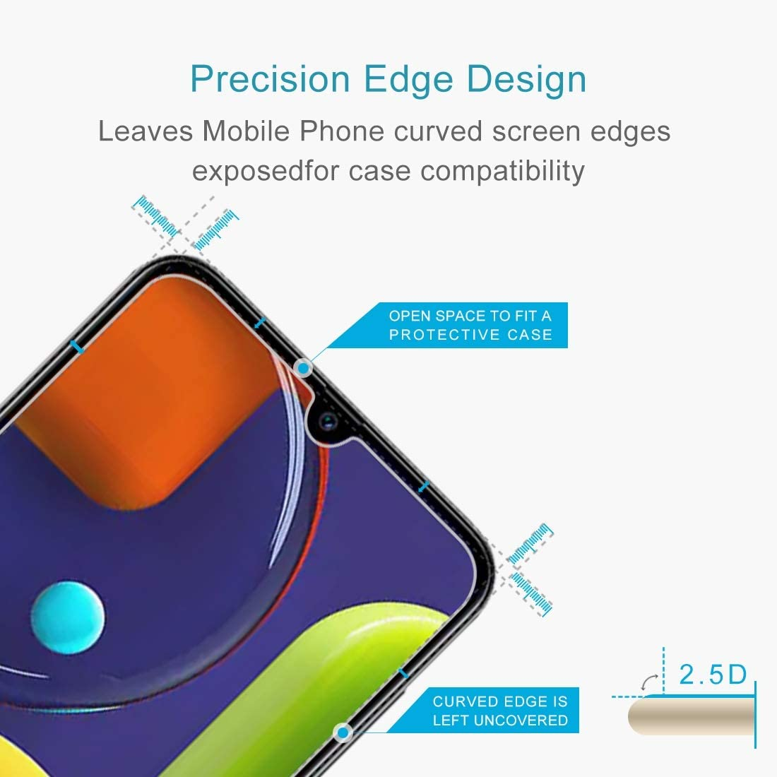 GzPuluz Glass Protector Film 50 PCS 0.26mm 9H 2.5D Tempered Glass Film for Galaxy A50s