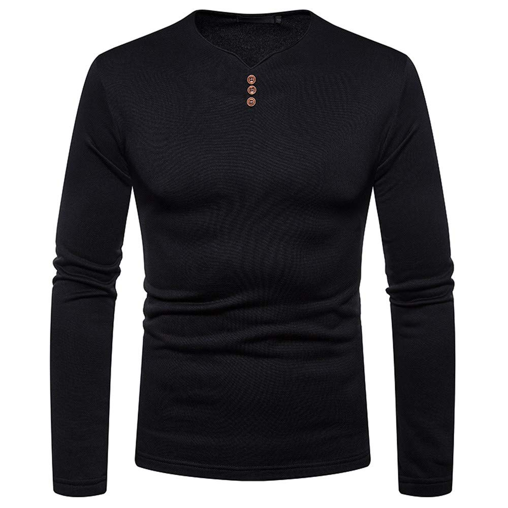 Amazon.com: Easytoy Mens Fashion Solid O Neck Slim Fit Long Sleeve Muscle Tee T-Shirt Shirts Tops Blouse: Sports & Outdoors