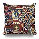 Kutita Decorative Pillow Covers 18 x 18 inch Throw Pillow Covers, Native American Fabric Patchwork Wallpaper Background Pattern Double-Sided Decorative Home Decor Pillowcase