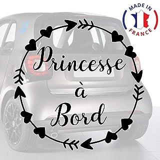 Sticker b/éb/é /à bord pour voiture Femme Enceinte /à bord 20 cm Noir Anakiss