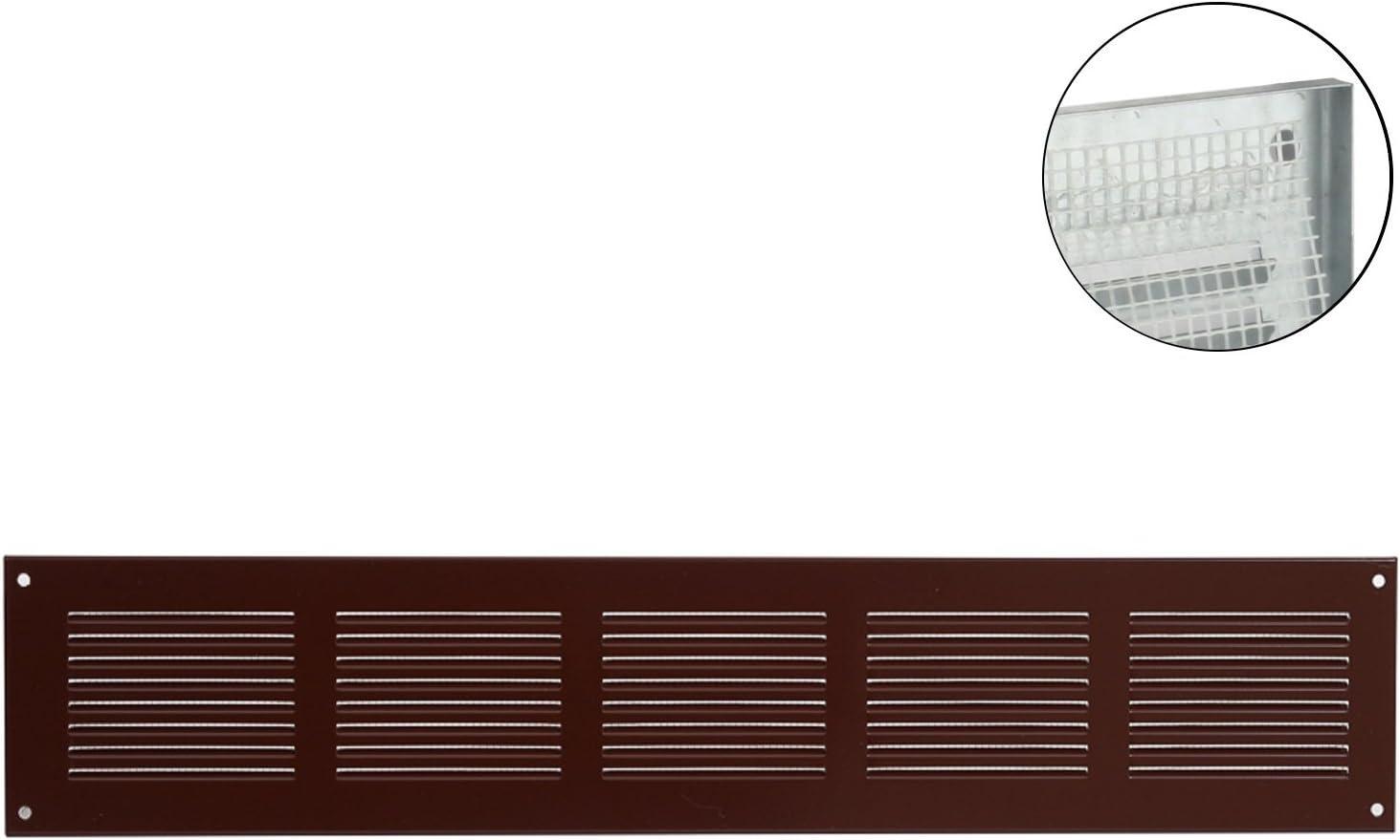 18529-031 L/üftungsgitter Wandgitter Abschluss Metallgitter Abluft Zufluft Insektenschutz verschlie/ßbar /Ø 100 mm braun MKK