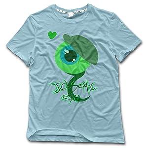 GOOOET Men's JackSepticEye Logo Cotton Shirt SkyBlue 3X