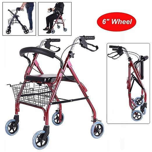 4 Ruedas Andadores para discapacidad, Marco ligero de ...
