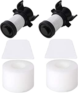 ConPus Filters Compatible For Shark IONFlex ION Flex DuoClean Vacuum IC205 IF100 IF150 IF160 IF170 IF180 IF251 IF200 IF201 IF202 IF205 Replace XPREMF100 IF100 2 HEPA + 2 Foam Filters