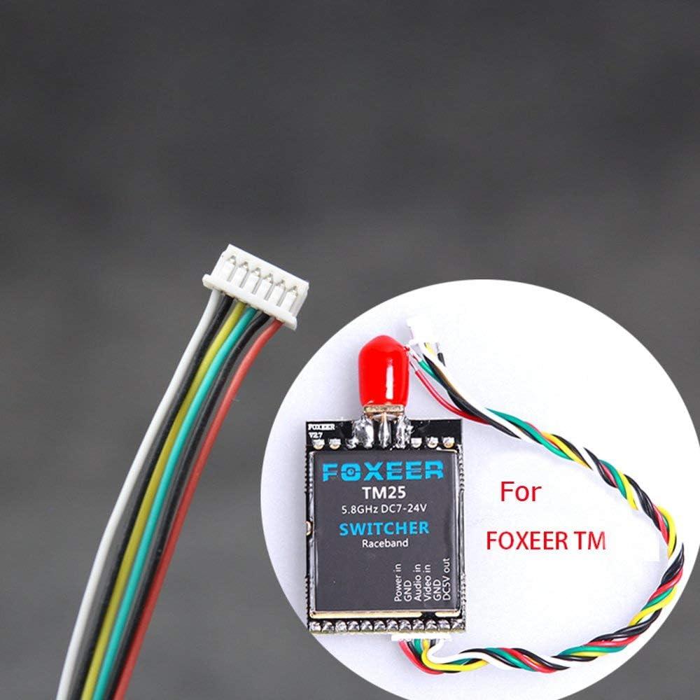 VIDOO Cable De Conexión del Transmisor De Vídeo FPV De 10 Cm para Carreras Drone Pandarc 5804M/Tanque De Rush//Ewrf/Foxeer Tm25 Cleartx Vtx-6P For Foxeer Tm25