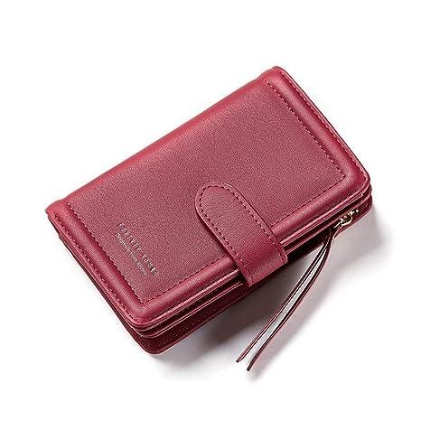LWICDHJK Billetera Nuevo Diseñador de Cuadros Pequeñas Mujeres Billetera de Señora Embrague Carteras Monedero Titular de