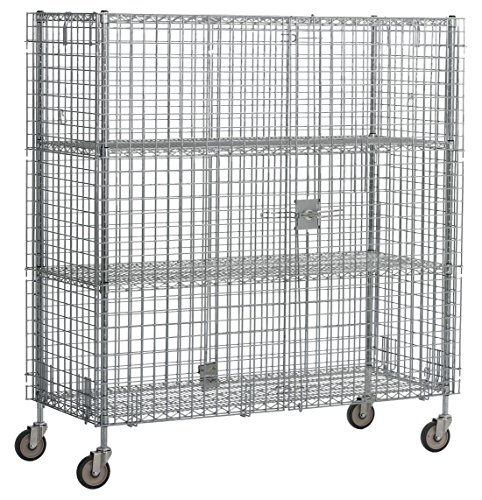 Williams WBSC2460C Mobile Bulk Storage Cage with Casters by Williams