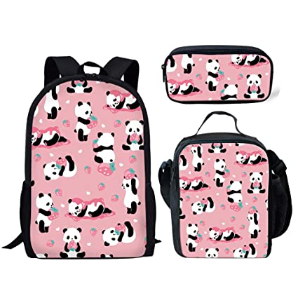 964a3f930b25 Amazon.com | Salabomia Girls Schoolbag Lunch Bag Pencil Box 3 in 1 ...