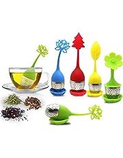 El infusor de té con bandeja de goteo incluye el juego de 5, filtro de