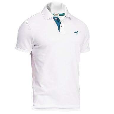 große Sammlung Bestbewertete Mode heißer verkauf authentisch Hollister Herren Stretch Contrast Pique Polo Poloshirt Polohemd Shirt
