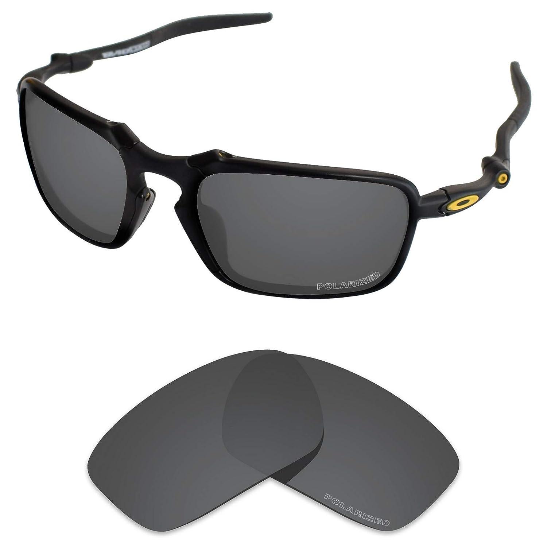 bbdcaa90bd23b Amazon.com  Tintart Performance Lenses Compatible with Oakley Badman  Polarized Etched-Carbon Black  Clothing
