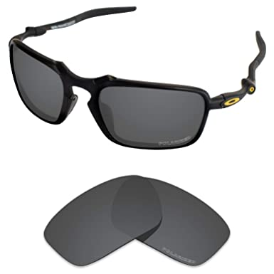 c72bc39cf47 Tintart Performance Lenses Compatible with Oakley Badman Polarized Etched-Carbon  Black
