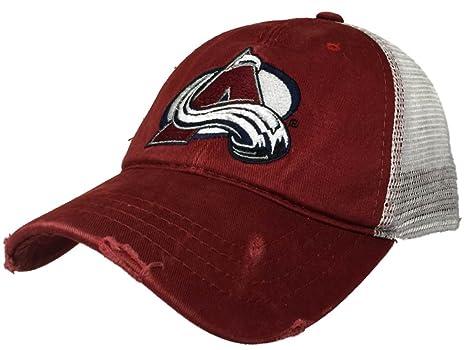 3f093dbf947 Amazon.com   Colorado Avalanche Retro Brand Red Worn Mesh Vintage ...