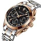 (US) KASHIDUN.Men's Watch Luxury Top Brand Quartz Analog Army Waterproof Watch Carlendar Date-RoseGold.918-JH