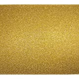 """Gnognauq 10 Sheets 12"""" x 8"""" A4 Glitter Cardstock Paper 250gms Sparkling Card Scrapbooking Craft Paper for Wedding Birthday Decoration and More DIY Craftwork (Gold)"""