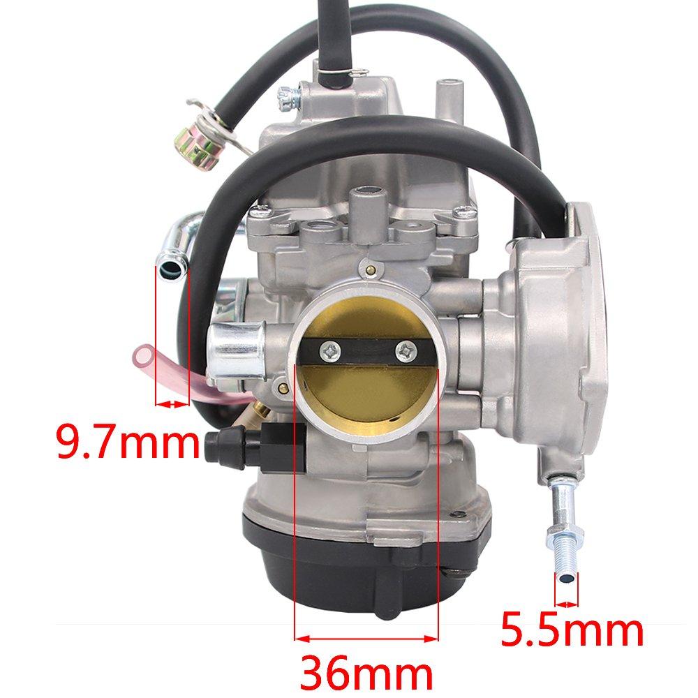 Amazon.com: Carburetor for Kawasaki KFX400 KF-X 400 03-06 Suzuki Lt-Z400  04-08 Arctic Cat 400 DVX Yamaha Raptor 350 YFM350 ATV Quad 13200-07G30  13200-07G40 ...