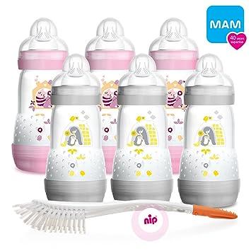 MAM Anti Colic Flaschen 260 ml 2 Stück /& Sauger Gr.2 Doppelpackung *NEU*