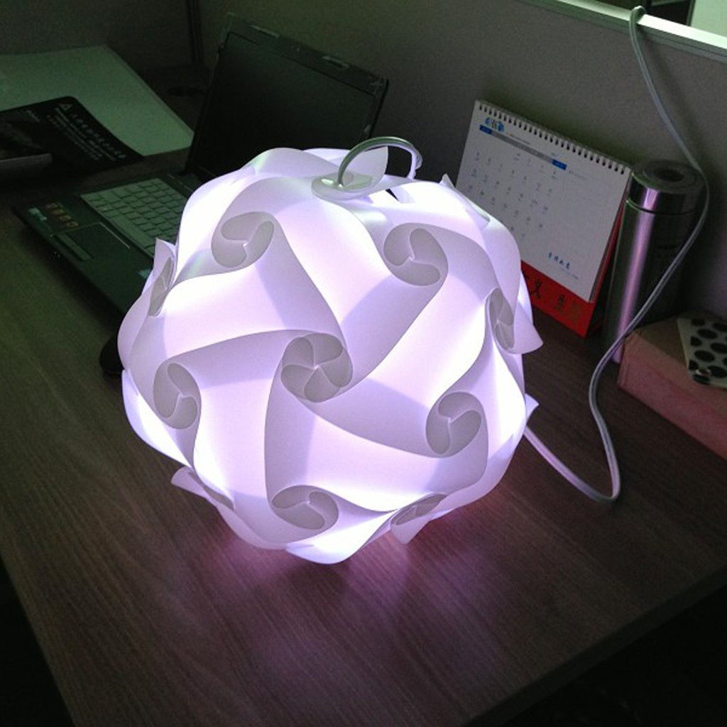 Amazon.com: 1 X White IQ Puzzle Lights Infinity Lights Jigsaw Lights  Lampshade By Tfboys: Home Improvement