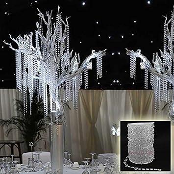 Amazon 99 ft garland diamond strand acrylic crystal bead 99 ft garland diamond strand acrylic crystal bead wedding decoration junglespirit Gallery