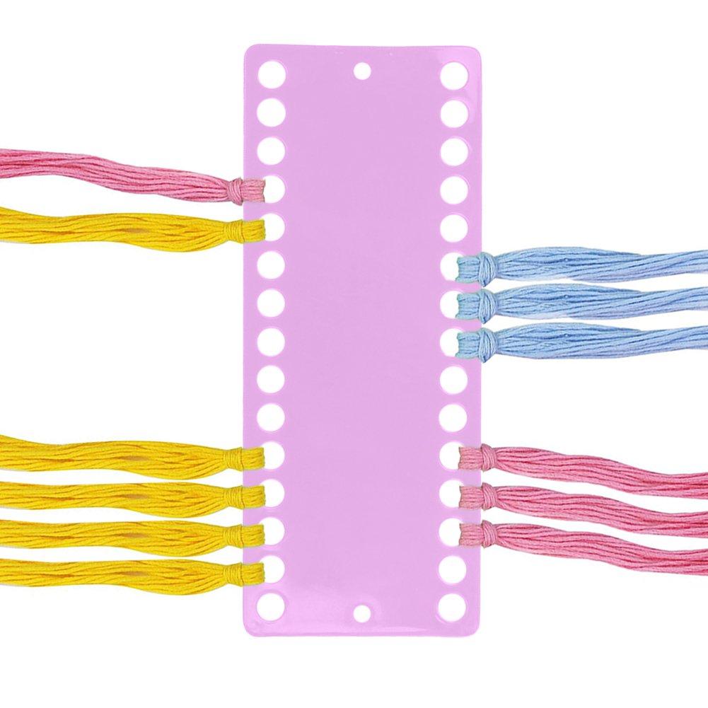 Prokth plastica Floss organizer per ricamo a punto croce con attacco filettato, 2PCS Needlework Project di 30posizioni Jelly color Floss Tread filato organizer progettato, plastica, Blue, 30 positions
