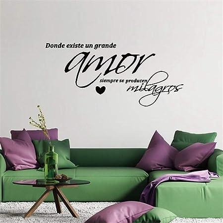 zzlfn3lv Etiqueta engomada de Vinilo de 55 * 26 cm en Vinilo Amor, Arte de la Pared Dormitorio - vinilos Decorativos de Pared Dormitorio decoración España: Amazon.es: Hogar