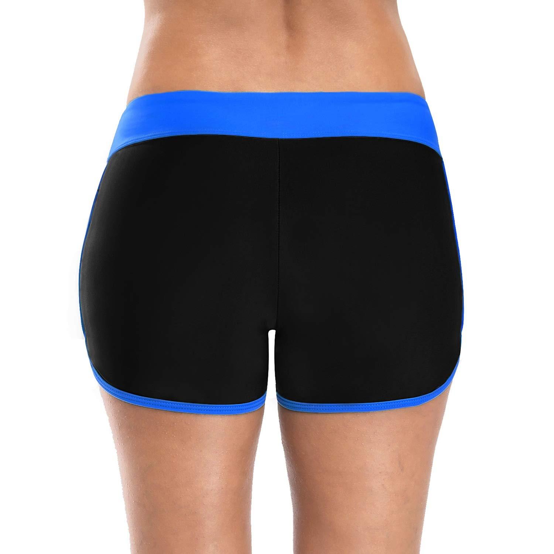 89a98f8c54a8 Vegatos Womens Boyleg Swim Shorts Sports Board Short Stretch Swimsuit  Bottoms at Amazon Women's Clothing store: