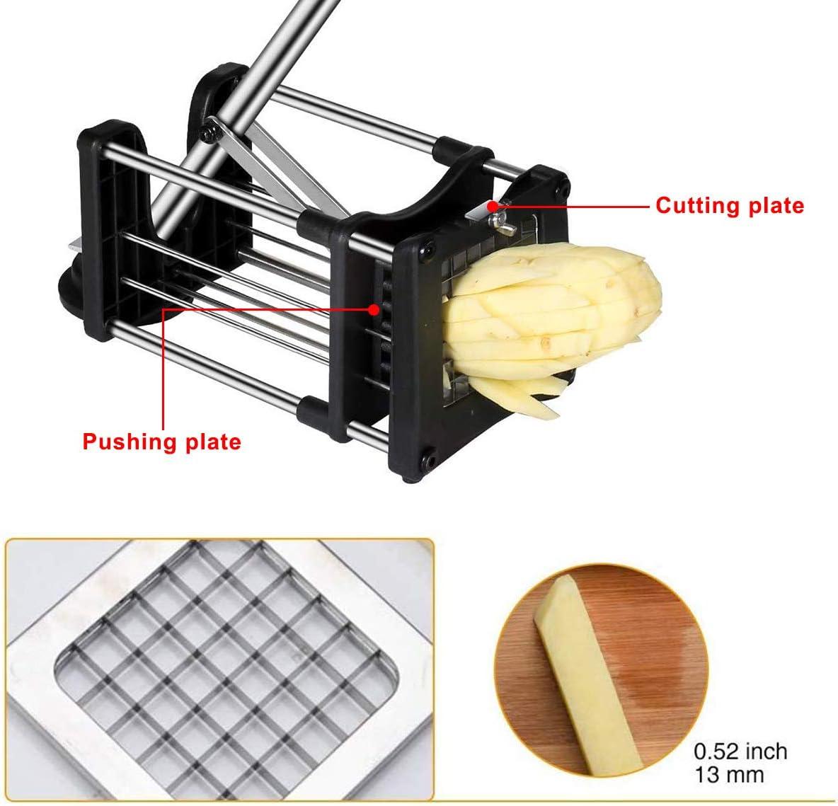 Cuchilla de repuesto para papas fritas met/álico cuchilla de 1//2 pulgada para cortador de papas fritas