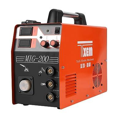 Akozon Máquina de soldadura 3-en-1 220V máquina de soldadura digital con pantalla MIG/TIG/ARC accesorios de soldadura completa: Amazon.es: Industria, ...
