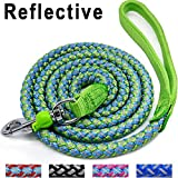 #4: Mycicy Mountain Climbing Rope Dog Leash, 6 Foot Reflective Nylon Braided Heavy Duty Dog Training Leash for Large and Medium Dogs Walking Leads (Green)