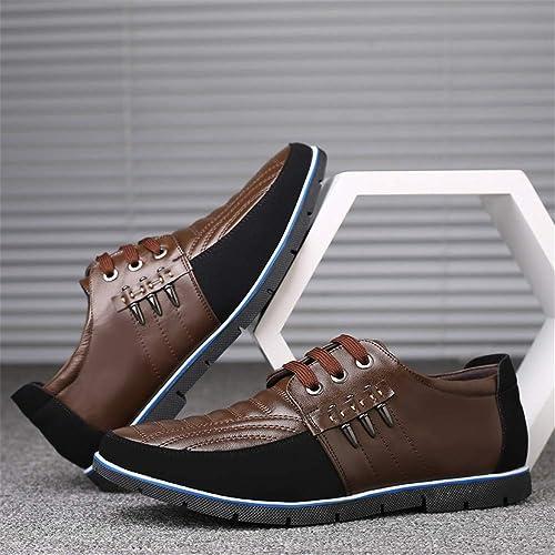 LIEBE721 Zapatos Ocasionales de Negocios para Hombres Formal Salvaje Antideslizante Duradero cl/ásico Elegante Maduro Comfartable con Cordones Moda Zapatos de Gran tama/ño
