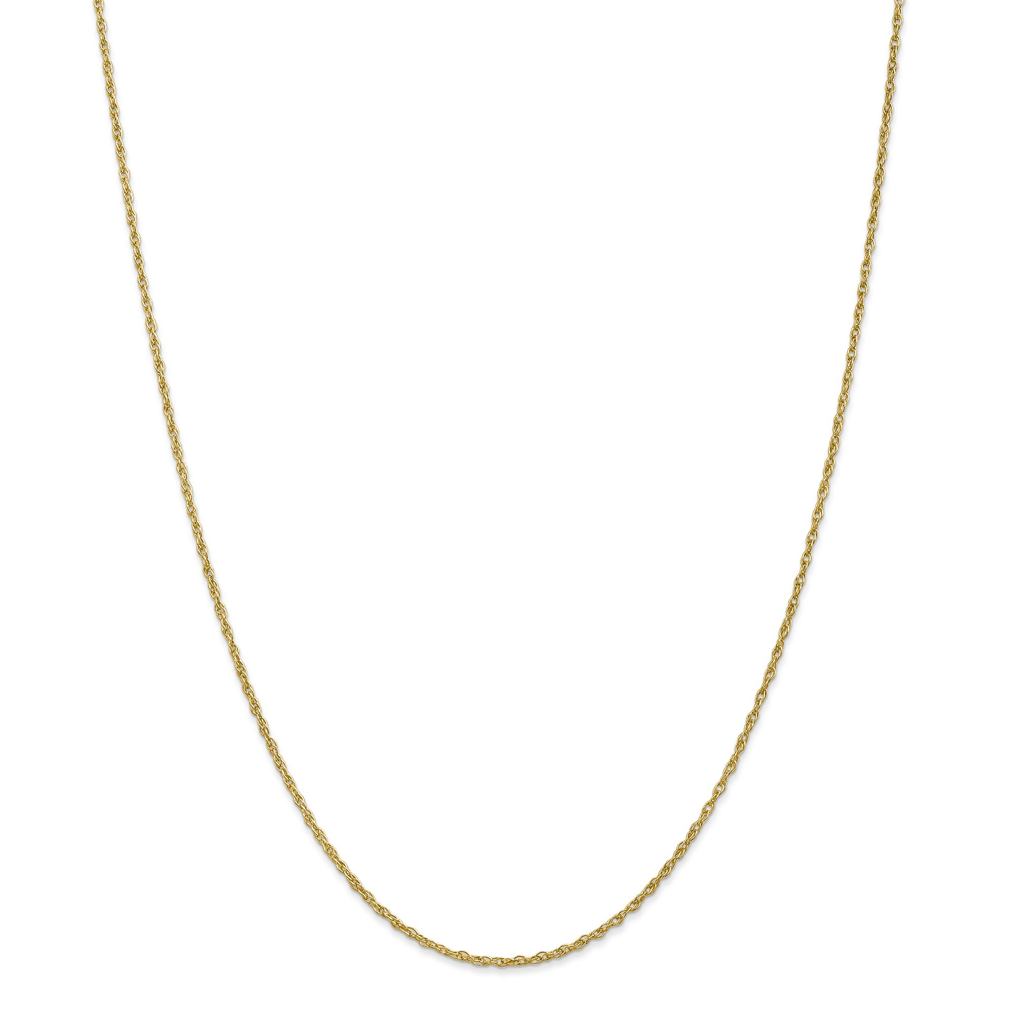 ICE CARATS 18k1.3mm Heavy Baby Link Rope Chain Necklace 24 Inch