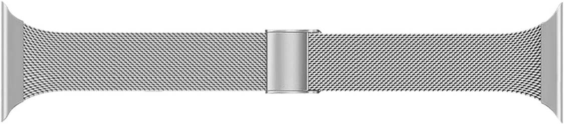 Seltureone Metal Band Compatible for iWatch 42mm 44mm, Stainless Steel Replacement Compatible for iWatch SE, iWatch Series 6/5/4/3/2/1 Sport Edition Women Men, Silver