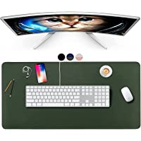 Waterproof Desk Pad Protector - 2021 Dual Sided 80 x 40 Cm PU Leather Mouse Mat Desk Blotter Pad, Desk Mouse Pad and…